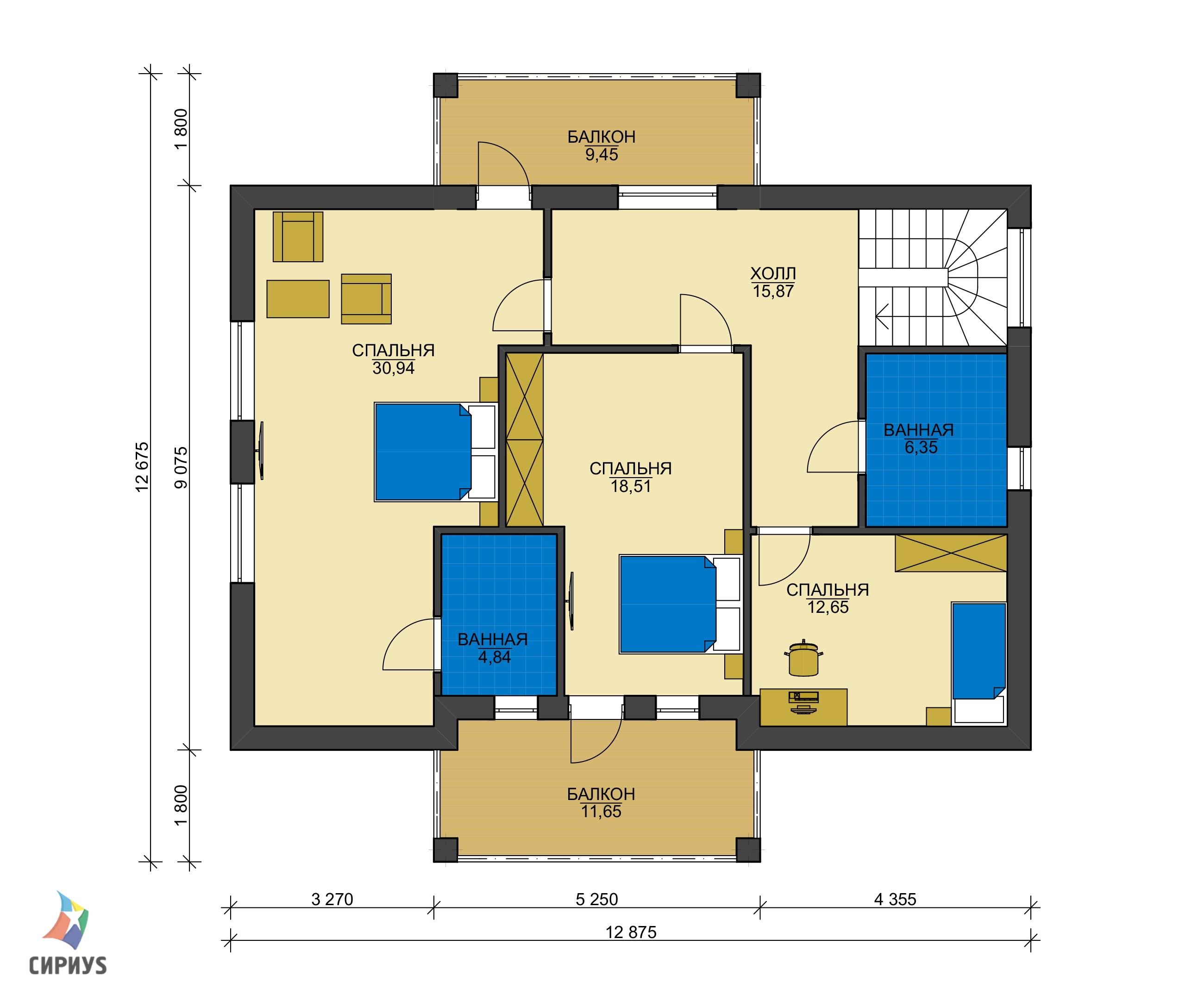 Каркасный дом БСУ-КД 49