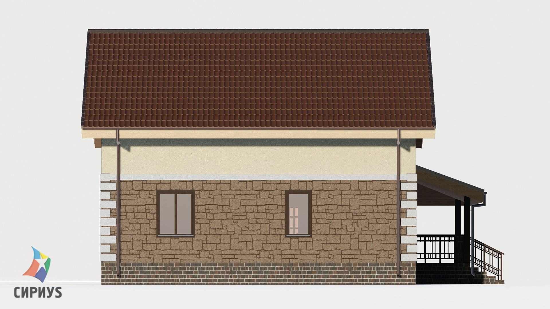 Дом из блоков БСУ-ДБ 31
