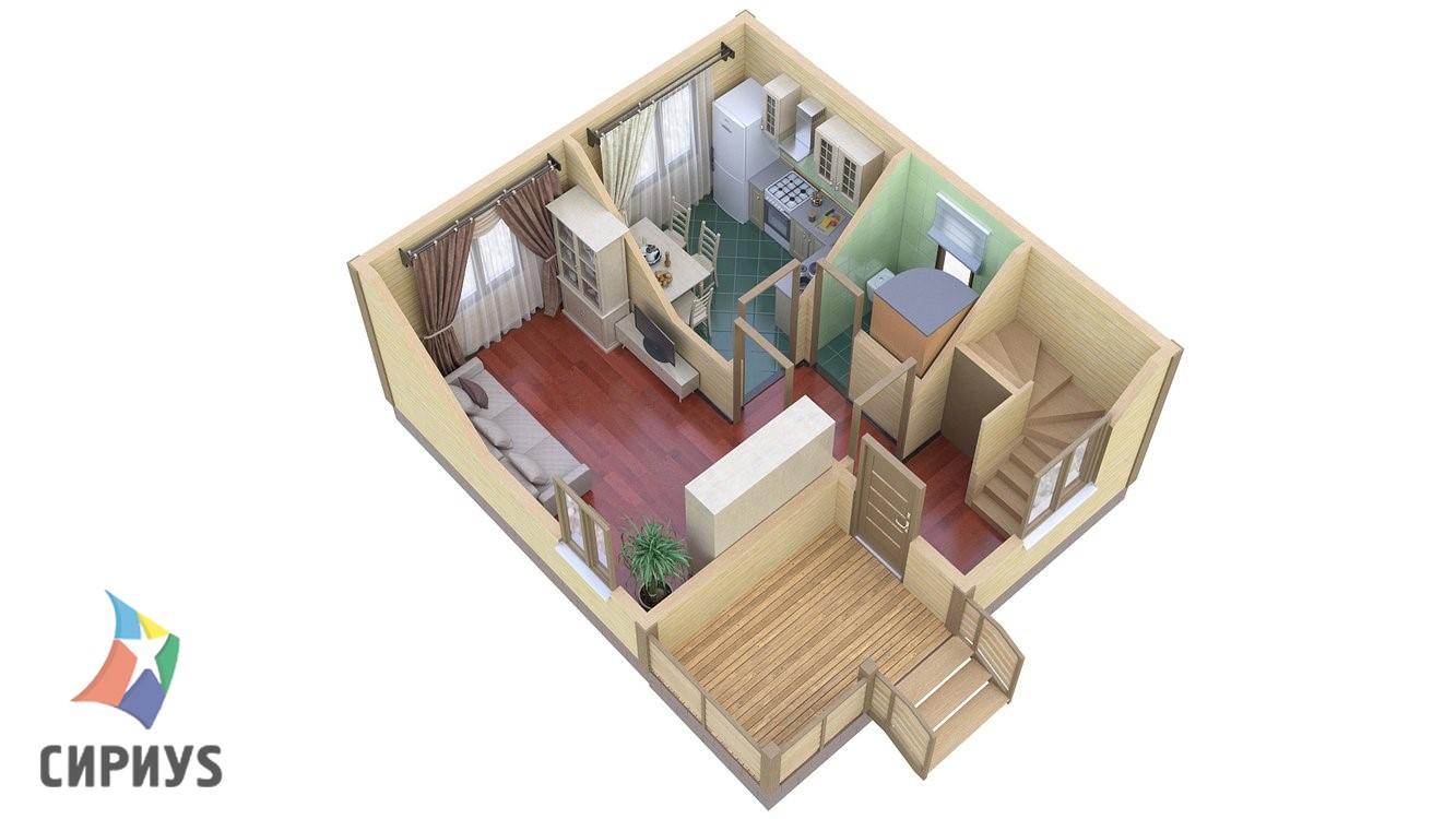 Каркасный дом БСУ-КД 4