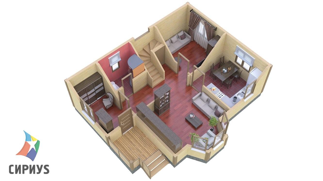Каркасный дом БСУ-КД 13