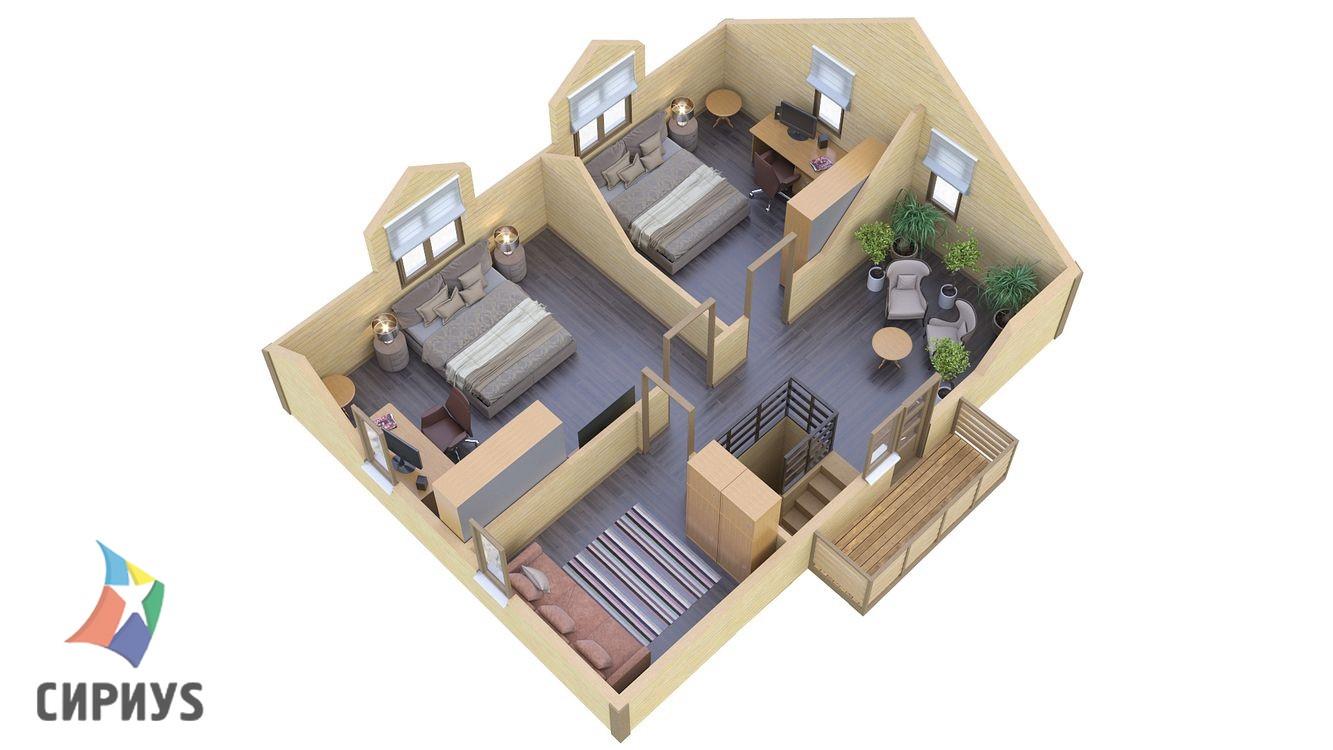 Каркасный дом БСУ-КД 23