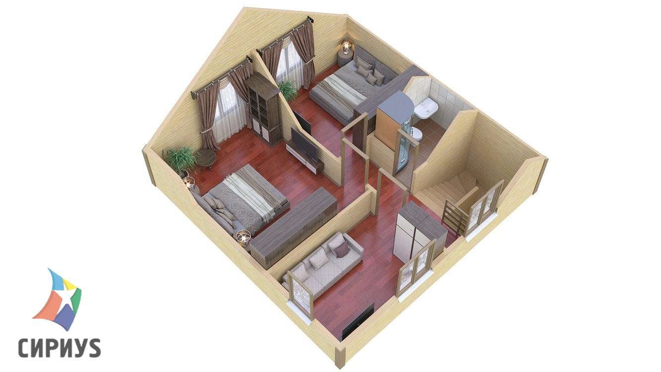 Каркасный дом БСУ-КД 11