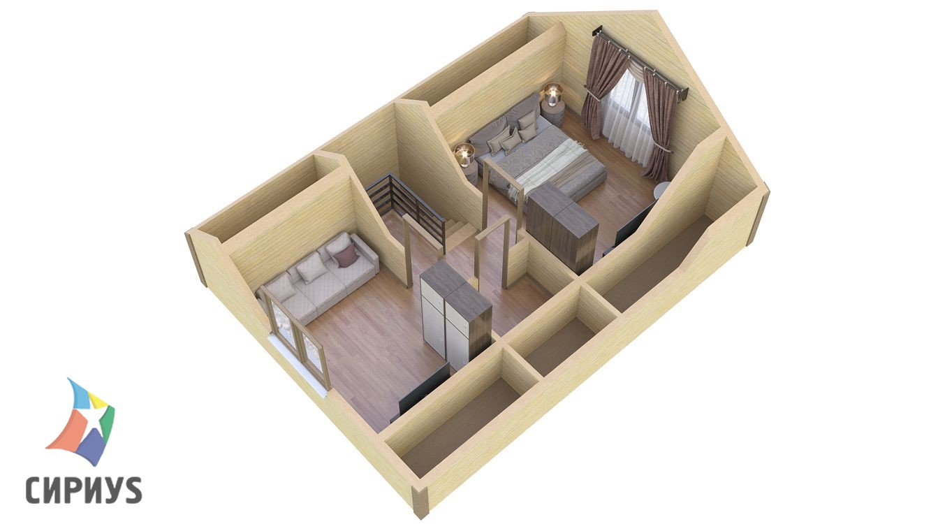 Каркасный дом БСУ-КД 3