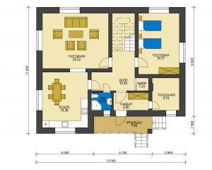 Дом из блоков БСУ-ДБ 33