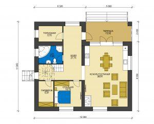 Дом из блоков БСУ-ДБ 35