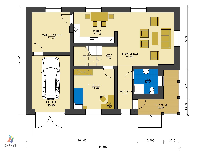 Дом из блоков БСУ-ДБ 39