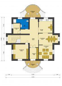 Дом из блоков БСУ-ДБ 44