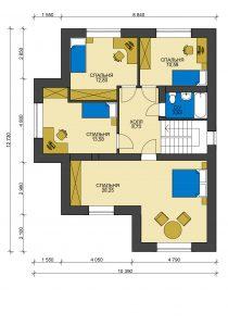 Дом из блоков БСУ-ДБ 13