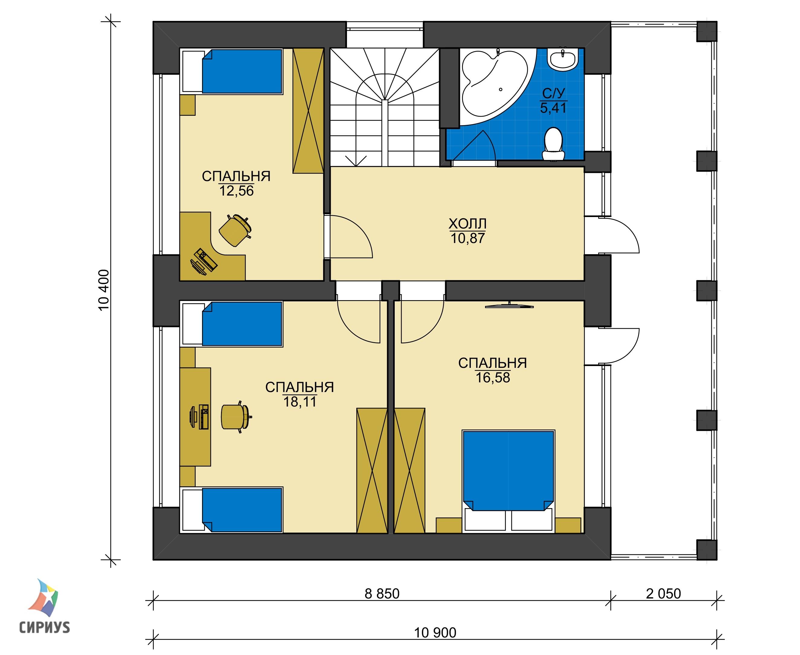 Дом из блоков БСУ-ДБ 14