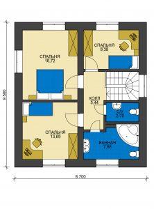Дом из блоков БСУ-ДБ 5