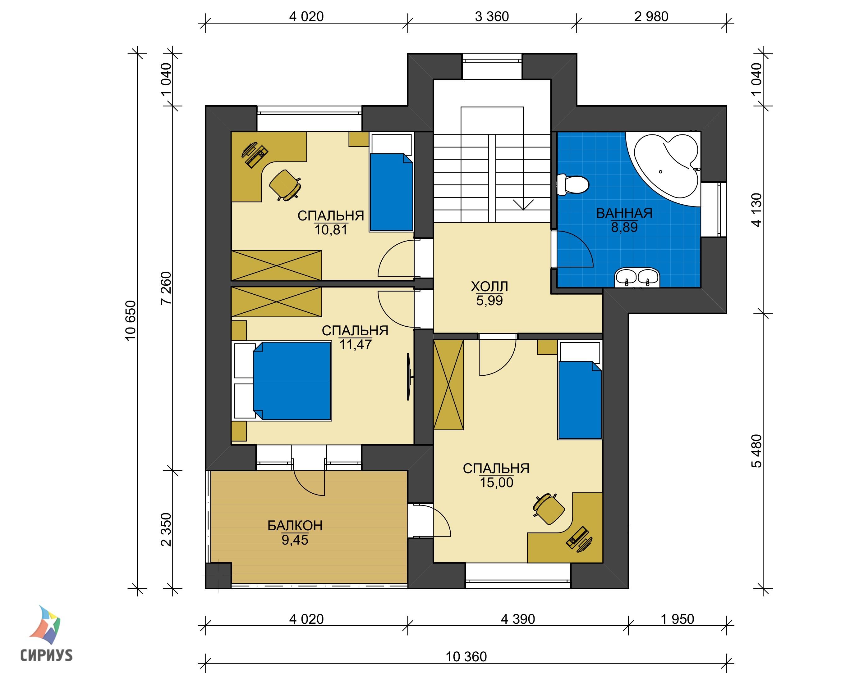 Дом из блоков БСУ-ДБ 6