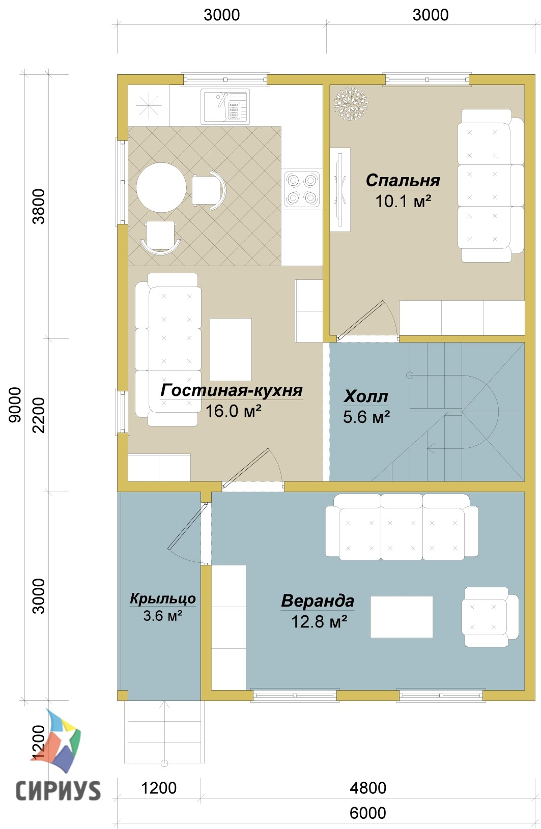 Каркасный дом БСУ-КД 8